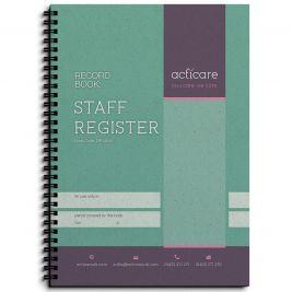 Staff Register Record Book