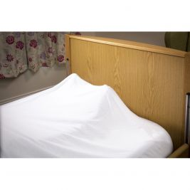 Sleep Knit Flame Retardant Top Sheet Double Bed Cream