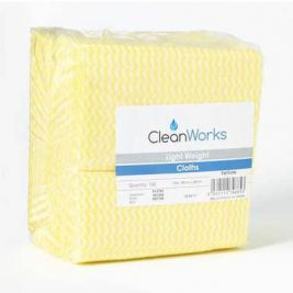 Cleanworks Lightweight Cloths Yellow 1x100
