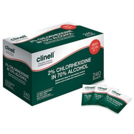 Clinell 2% Chlorhexidine in 70% Alcohol Wipes 1x240