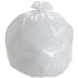 Light Duty Square Bin Liner White 10x100