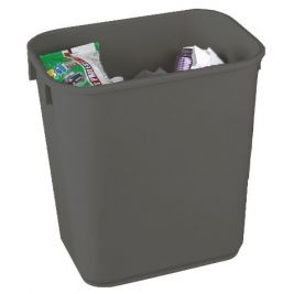 Rectangular Plastic Waste Basket 12 Litres Grey