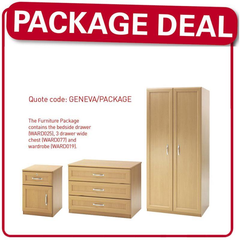 Geneva Care Home Bedroom Furniture Package - Care Shop