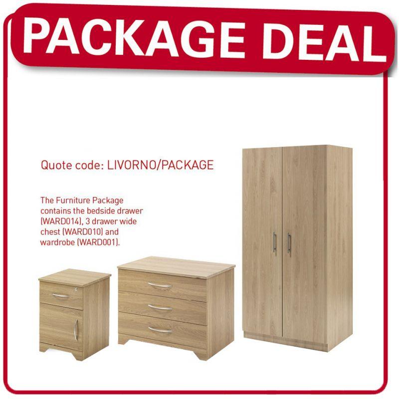 Livorno Care Home Bedroom Furniture Package - Care Shop