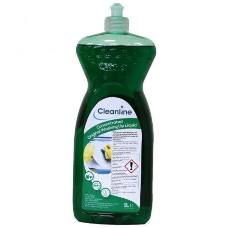 Cleanline Concentrated Washing Up Liquid 1 Litre