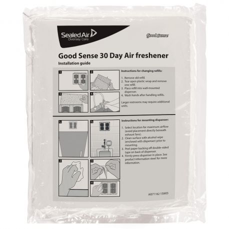 Diversey Good Sense 30 Day Air Freshener Refill Green Apple 2x6