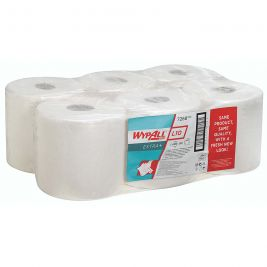 Kimberly Clark Wypall L10 EXTRA+ Centrefeed Roll 1 Ply White 1x6