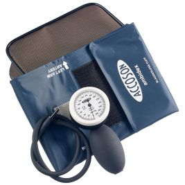 Accoson Portable Aneroid Sphygmomanometer Limpet Hand Model with 4 Set Cuffs