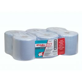 WYPALL CENTREFEED 1 PLY BLUE CASE 6X800