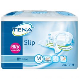 TENA SLIP PLUS MEDIUM BLUE (CASE) 3X30