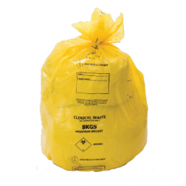 80L 8KG UN YELLOW CLINICAL SACK 8X25