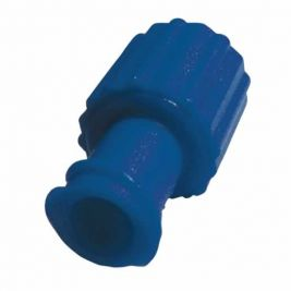 Obturator Cap Male/female Luer Lock Blue 1x100