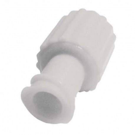 Obturator Cap Male Female Luer Lock White