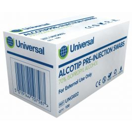 Uhs Alcotip Pre-Injection Swab 1x100