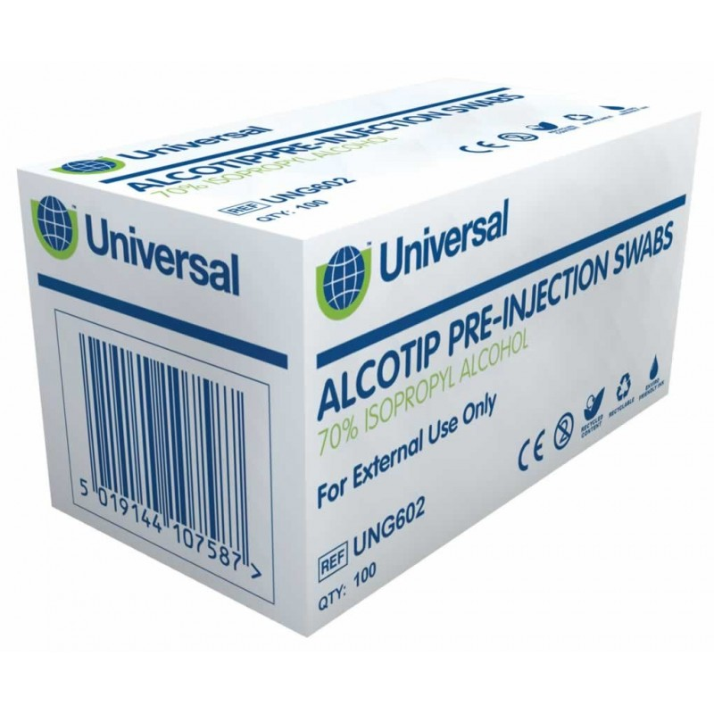 Universal Alcotip Pre-Injection Swab 1x100