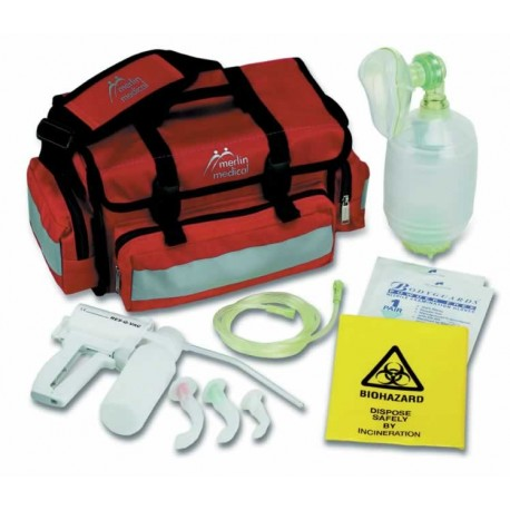 Mini Resuscitator Kit with Red Carry Case