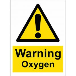 Warning Oxygen Sign