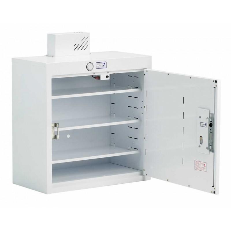 Drug cabinet single door deep shelves with light 50cm x for Kitchen cabinets 50cm wide