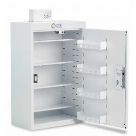 Drug Cabinet 1 Door Std Shelves W/ Light 50x30x90cm