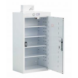 Drug Cabinet 1 Door Deep Shelves W/ Light 50x30x90cm
