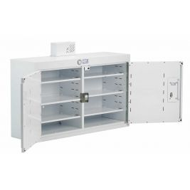 Drug Cabinet 2 Door Deep Shelves W/ Light 100x30x60cm