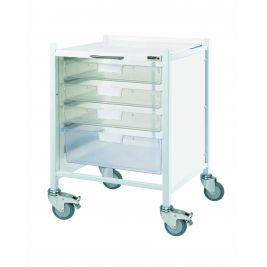 Vista 40 Trolley with 3 Single Trays and 1 Double Depth Tray