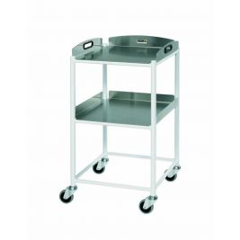 Dt4 Dressing Trolley W/ 2 Stainless Steel Trays