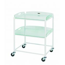 Dt6 Dressing Trolley W/ 2 Glass Effect Safety Trays