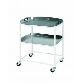 DT6 Dressing Trolley with 2 Stainless Steel Trays