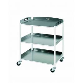 DT6 Dressing Trolley with 3 Stainless Steel Trays