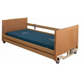 Bradshaw Low Nursing Care Bed Light Oak