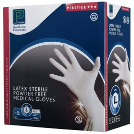 Premier Prestige Sterile Latex P/F Gloves Large 1x50