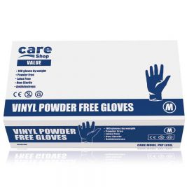 Care Essentials Clear Vinyl P/F Gloves Medium 10x100