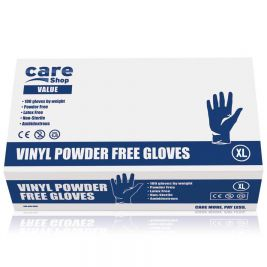 Care Essentials Clear Vinyl P/F Gloves Extra Large 10x100