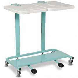 Linen Trolley Cantilever Frame Double Bag Pedal Lid