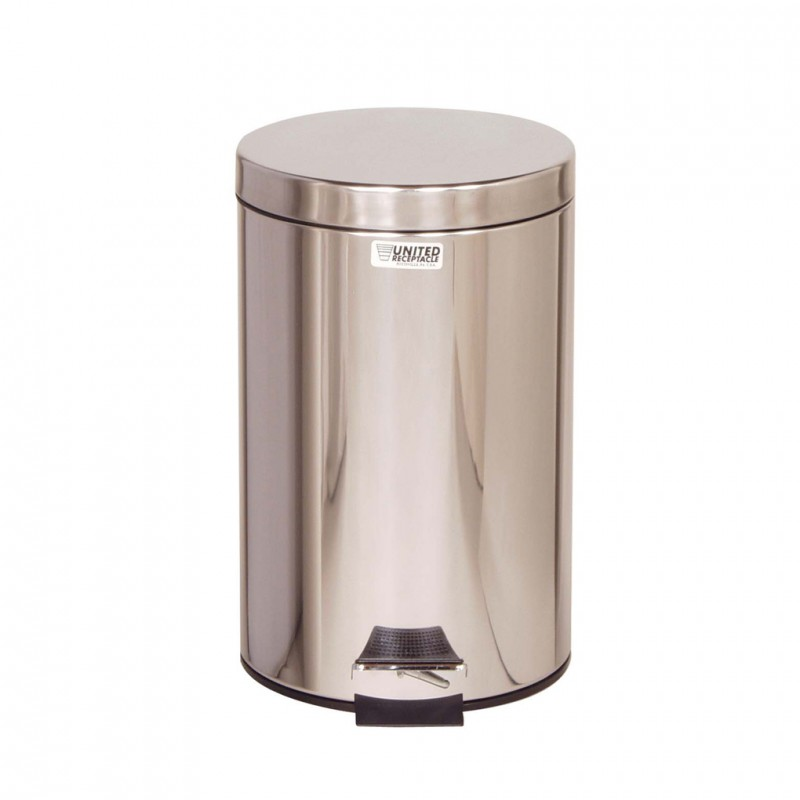 stainless steel small pedal bin 6 8 litres. Black Bedroom Furniture Sets. Home Design Ideas