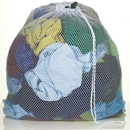 Mesh Laundry Bag Drawstring B-Lock Closure White 64cmx84cm