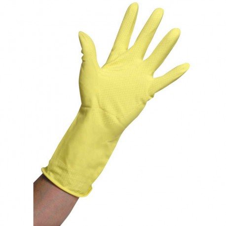 Household Gloves Yellow Large