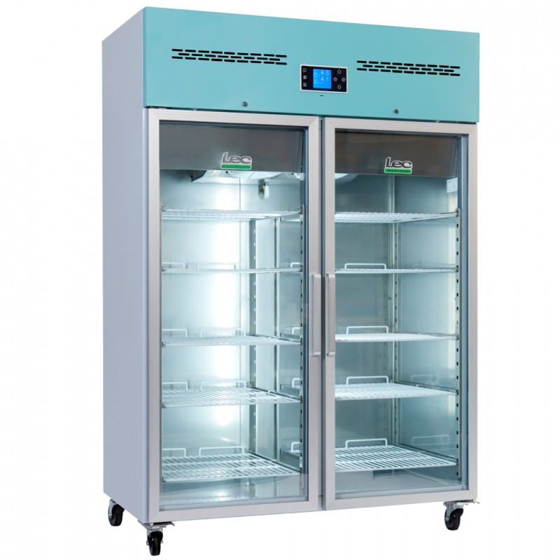 Lec Medical Pharmacy Fridge 1200 Litre Glass Door