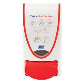 DEB Cutan Hand Sanitiser Dispenser 1 Litre White