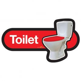 Find Toilet Sign 300mm