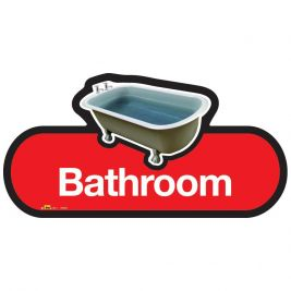 Find Bathroom Sign 300mm