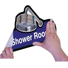 Find Shower Room Sign Self Adhesive 300mm