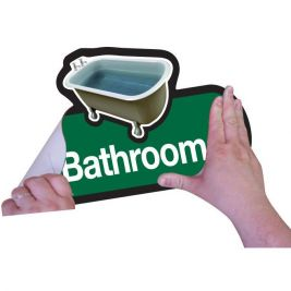 Find Bathroom Sign Self Adhesive 300mm