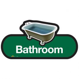 Find Bathroom Sign 480mm