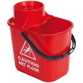 Professional Bucket and Wringer 15 Litre Red