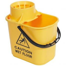 Professional Bucket and Wringer 15 Litre Yellow