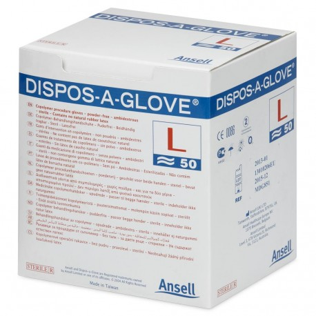 Dispos-A-Glove Sterile Synthetic P/F Gloves Small 1x50