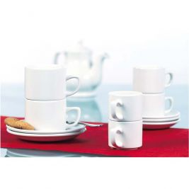 Classic Plain Stacking Tea Cup 1x12