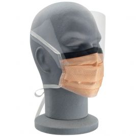 Fluidprotect Surgical Face Mask W/ Anti-fog Visor Ties 1x25